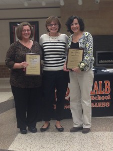 Wirtz Award winners Cindy Dugan (left) and Martha Henning (right) with DEF Wirtz Selection Committee Chair Carol Naylor (center).